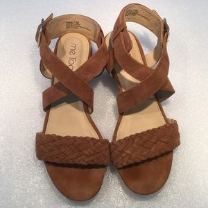 Me Too Marsel Brown Leather Sandals